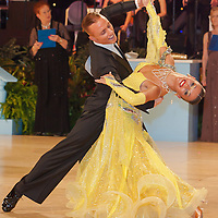 Rosario Guerra and Grazia Benincasa from Italy perform their dance during the amateur ballroom competitiion of the United Kingdom Open Dance Championships held in Bournemouth International Centre, Bournemouth, United Kingdom. Thursday, 21. January 2010. ATTILA VOLGYI