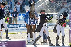 WERTH Isabell (GER), VON BREDOW-WERNDL Jessica (GER)<br /> Rotterdam - Europameisterschaft Dressur, Springen und Para-Dressur 2019<br /> Siegerehrung<br /> Longines FEI Dressage European Championship Grand Prix Freestyle<br /> Grand Prix Kür<br /> 24. August 2019<br /> © www.sportfotos-lafrentz.de/Stefan Lafrentz