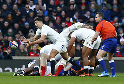 February 10, 2019 - London, England, United Kingdom - Ben Youngs of England..during the Guiness 6 Nations Rugby match between England and France at Twickenham  Stadium on February 10th,  in Twickenham, London, England. (Credit Image: © Action Foto Sport/NurPhoto via ZUMA Press)
