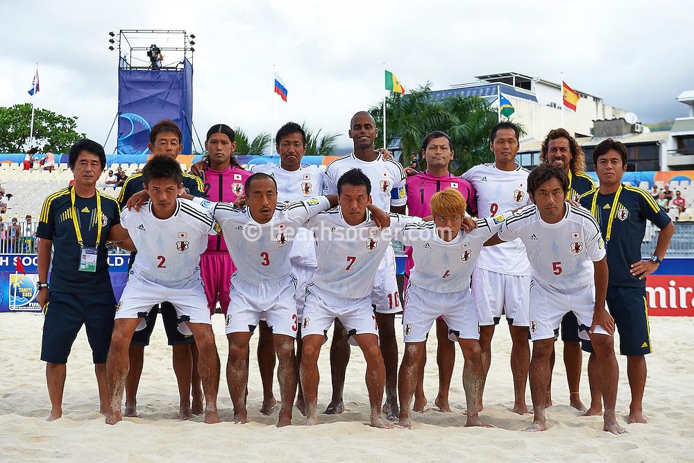 PAPEETE, TAHITI - SEPTEMBER 25:  FIFA Beach Soccer World Cup Tahiti 2013 between Brazil and Japan at Stadium Tahua To´ata  on September 25, 2013 in Papeete, Tahiti. (Photo by Manuel Queimadelos)