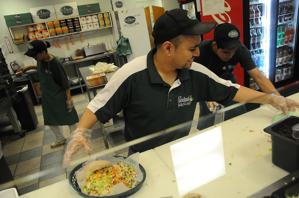 David Molina owns and operates a Pockets restaurant in Chicago's Streeterville neighborhood. Not one to sit still, he also owns a Luna Maid Services cleaning business.