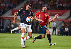 September 11, 2018 - Elche, U.S. - ELCHE, SPAIN - SEPTEMBER 11: Ivan Perisic, defender of Croatia competes for the ball with Daniel Carvajal, defender of Spain during the UEFA Nations League A Group four match between Spain and Croatia on September 11, 2018, at Estadio Manuel Martinez Valero in Elche, Spain. (Photo by Carlos Sanchez Martinez/Icon Sportswire) (Credit Image: © Carlos Sanchez Martinez/Icon SMI via ZUMA Press)