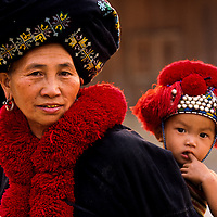 Yao Hill Tribe Mother and Child, Muang Singh, Laos