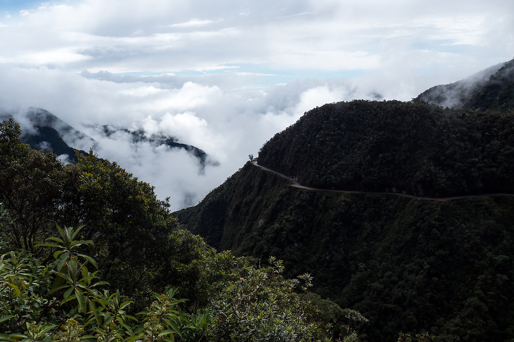 "The The North Yungas Road is a road leading from La Paz to Coroico, 56 kilometres (35 mi) northeast of La Paz in the Yungas region of Bolivia. In 1995 the Inter-American Development Bank christened it as the ""world's most dangerous road"". In 2006, one estimate stated that 200 to 300 travellers were killed yearly along the road. The road includes cross markings on many of the spots where vehicles have fallen."