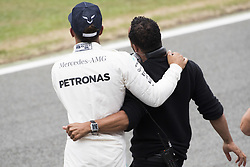 July 15, 2017 - Silverstone, Great Britain - Motorsports: FIA Formula One World Championship 2017, Grand Prix of Great Britain, ..#44 Lewis Hamilton (GBR, Mercedes AMG Petronas F1 Team) with his brother Nicolas  (Credit Image: © Hoch Zwei via ZUMA Wire)