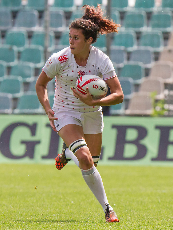 Abbie Brown in action, World Rugby Women's HSBC Sevens Series, Clermont Ferrand, Day 1, at Stade Gabriel Montpied, Clermont Ferrand, France, on 28th May 2016