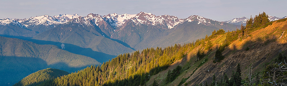 Olympic Mountains as seen in Morning Light.