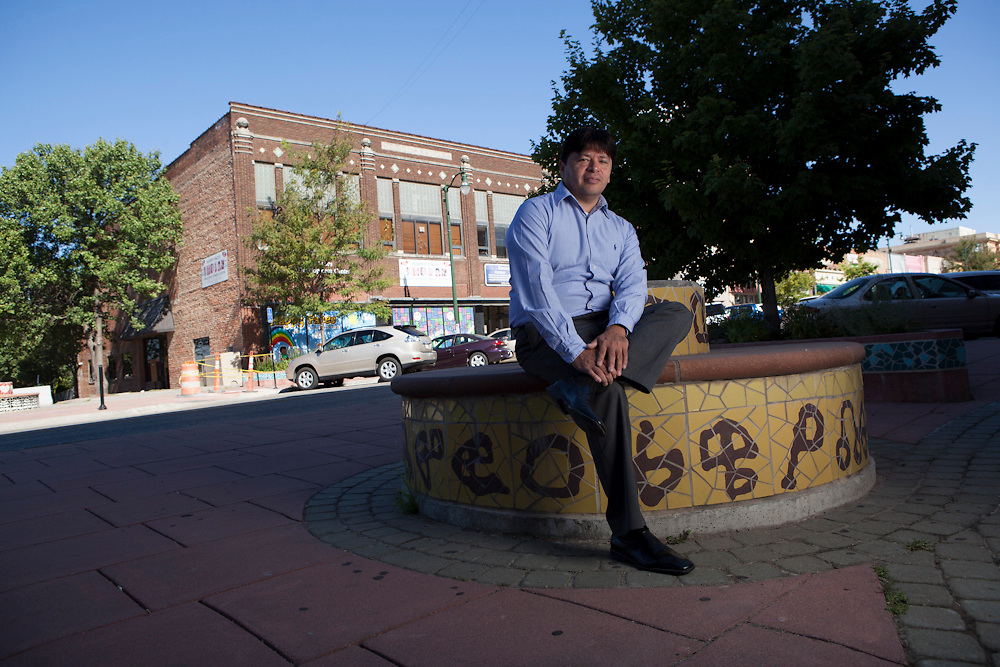 27 July 2012- Alberto Cervantes is photographed in South Omaha for Omaha Chamber Guide.