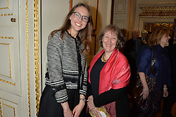 LONDON, ENGLAND 28 NOVEMBER 2016: Left to right, Allison Goudie, Joanna Marschner at a reception to celebrate the publication of The Sovereign Artist by Christopher Le Brun and Wolf Burchard held at the Royal Academy of Art, Piccadilly, London, England. 28 November 2016.