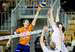 Nathan Roberts of ACH during volleyball match between ACH Volley and OK Calcit Volleyball in 10th Round of Slovenian National Championship 2014/15, on March 11, 2015 in Arena Tivoli, Ljubljana, Slovenia. Photo by Vid Ponikvar / Sportida