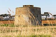 Martello tower Z  Napoleonic war military defence fortress, Alderton, Suffolk, England, UK