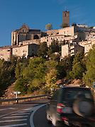 The hilltop town Sos del Rey Catolico at dawn, near San Sebastian, Spain