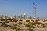 Dubai . .open space under development  near Sheikh Zayed Road (in background)  entering Dubai from  Abu Dhabi.