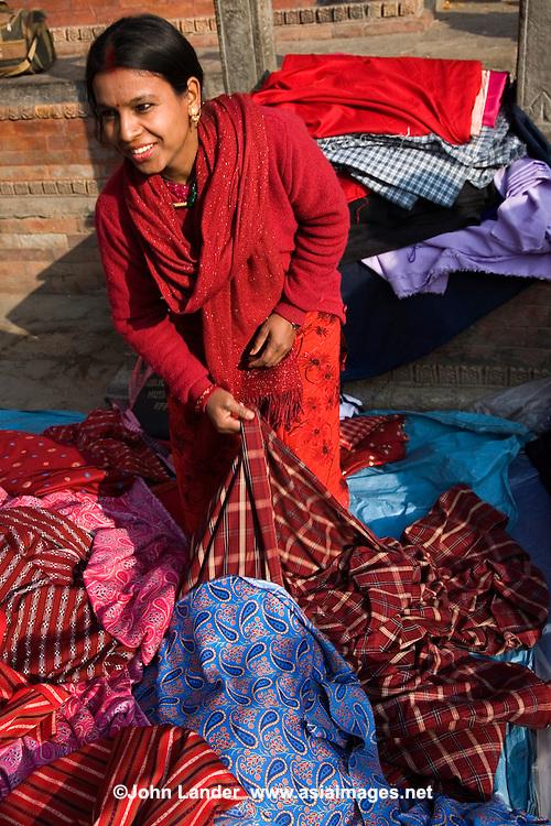 Nepali Textile vendor, Durbar Square Kathmandu