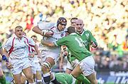 Twickenham. Surrey, UK., 16th February 2002, Six Nations International Rugby,  RFU Stadium, England vs Ireland,  [Mandatory Credit: Peter Spurrier/Intersport Images],<br /> <br /> The Lloyds TSB Six Nations Championship<br /> England v Ireland<br /> RFU - Twickenham<br /> 16/02/2002<br /> Ben Kay on the charge<br /> <br /> <br /> <br />  <br /> <br /> <br /> <br /> <br /> <br /> <br /> <br /> <br /> <br /> <br /> Salesi Finau