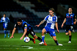 Luke McCormick of Bristol Rovers takes on Eoghan O'Connell of Rochdale - Mandatory by-line: Robbie Stephenson/JMP - 31/10/2020 - FOOTBALL - Crown Oil Arena - Rochdale, England - Rochdale v Bristol Rovers - Sky Bet League One