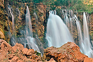 Arizona, Supai, Havasupai Nation, Waterfall, Reservation, Grand Canyon region, Havasu Canyon, Havasu River tributary of Colorado River