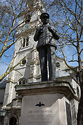 The statue of Royal Air Force Air Chief Marshal Lord Dowding,  outside St Clement Danes RAF church, on 17th April 2018, in London, England. Hugh Caswall Tremenheere Dowding, 1st Baron Dowding, GCB, GCVO, CMG 24 April 1882 – 15 February 1970 was an officer in the Royal Air Force. He served as a fighter pilot and then as commanding officer of No. 16 Squadron during the First World War. During the inter-war years he became Air Officer Commanding Fighting Area, Air Defence of Great Britain and then joined the Air Council as Air Member for Supply and Research. He was Air Officer Commanding RAF Fighter Command during the Battle of Britain and is generally credited with playing a crucial role in Britains defence, and hence, the defeat of Adolf Hitlers plan to invade Britain.