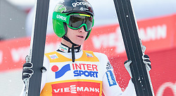 03.01.2016, Bergisel Schanze, Innsbruck, AUT, FIS Weltcup Ski Sprung, Vierschanzentournee, Bewerb, im Bild Peter Prevc (SLO) // Peter Prevc of Slovenia reacts after his Competition Jump of Four Hills Tournament of FIS Ski Jumping World Cup at the Bergisel Schanze, Innsbruck, Austria on 2016/01/03. EXPA Pictures © 2016, PhotoCredit: EXPA/ JFK