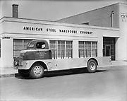 Ackroyd 00013-85  American Steel Warehouse Co. July 8, 1947, Northeast corner of NE 9th & Flanders. 425 NE 9th. Building is still there.