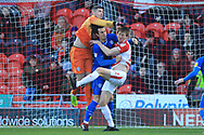 Magnus Norman punches clear during the EFL Sky Bet League 1 match between Doncaster Rovers and Rochdale at the Keepmoat Stadium, Doncaster, England on 1 January 2019.