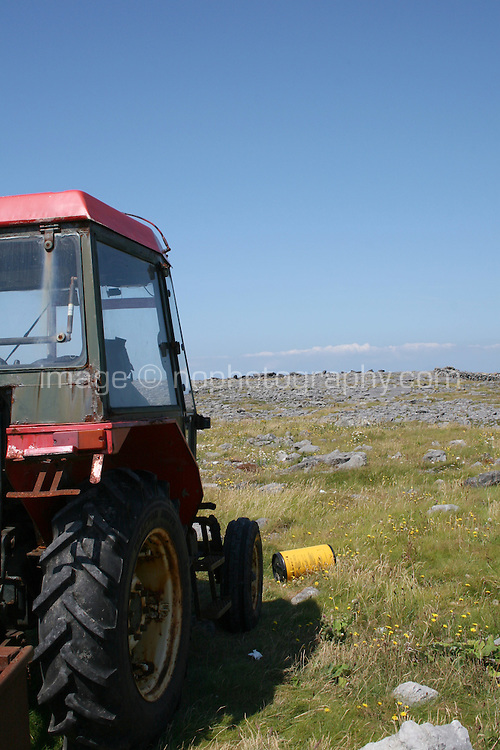 Tractor on the Aran Islands County Galway Ireland