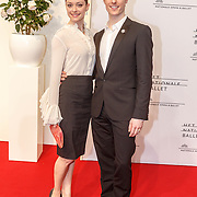 NLD/Amsterdam/20150410 - Première balletvoorstelling La Dame aux Camélias Het Nationale Ballet, Mega Zinny Kaftira en Remi Wörtmeyer