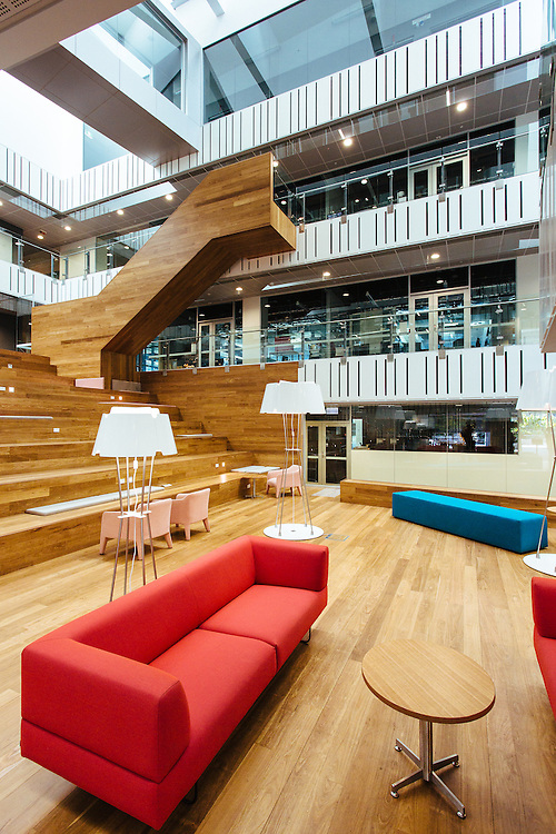 Interior of the QUT Science & Engineering Centre.