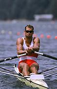 © 2001 Peter Spurrier Sports  Photo<br /> <br /> 1996 Atlanta Olympics<br /> <br /> CAN M1X Derek Porter.