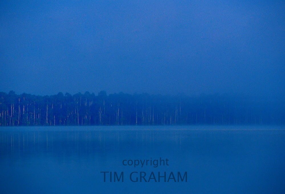 Lake Sandoval in the protected reserve zone Tambopata, Peruvian Rainforest, South America