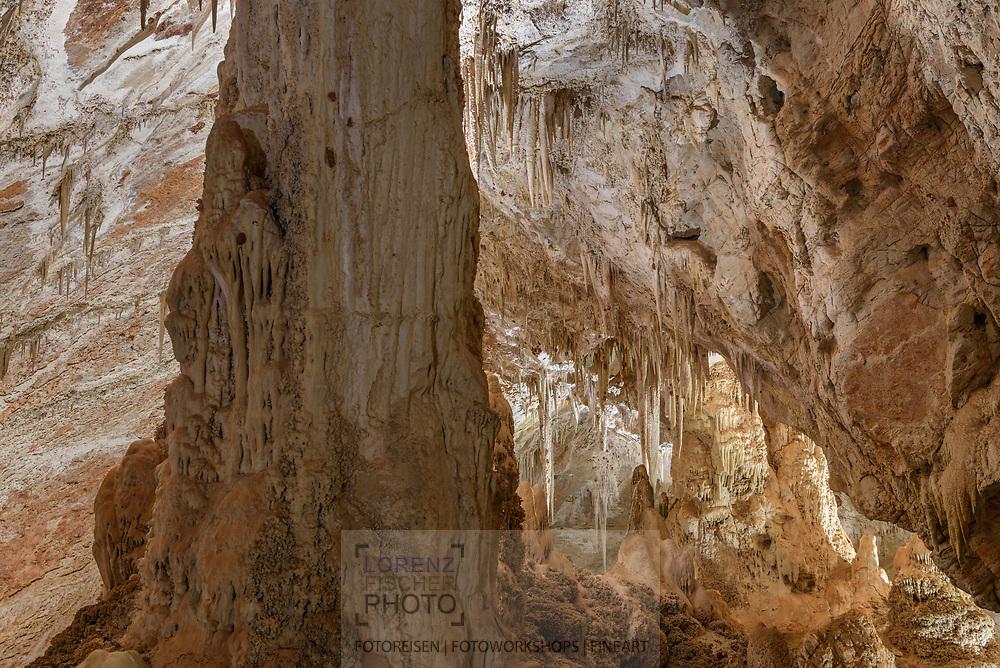 A flowstone cave in the Bonito area, Mato Grosso do Sul, Brazil