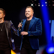 NLD/Amsterdam/20180414 - Holland Zingt Hazes 2018, Andre Hazes Jr. en Jamai Loman