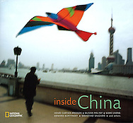Tearsheet from features and assignments done in China..National Geographic Book : Inside China , 200 photographs from different photographers , cover (plus 2 photos inside)..© Daniele Mattioli / Anzenberger