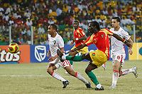 Photo: Steve Bond/Richard Lane Photography.<br />Guinea v Morocco. Africa Cup of Nations. 24/01/2008. ismael Bangoura (C) fires in Guinea's second