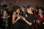 Thandie Newton, Bay Garnett and Daisy Garnett, Vogue 90th birthday party and to celebrate the Vogue List, Serpentine Gallery. London. 8 November 2006. ONE TIME USE ONLY - DO NOT ARCHIVE  © Copyright Photograph by Dafydd Jones 66 Stockwell Park Rd. London SW9 0DA Tel 020 7733 0108 www.dafjones.com