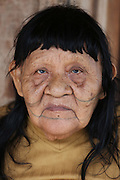 Chief Almir's mother, with traditional tattoo, the oldest person in the village<br /><br />An Amazonian tribal chief Almir Narayamogo, leader of 1350 Surui Indians in Rondônia, near Cacaol, Brazil, with a $100,000 bounty on his head, is fighting for the survival of his people and their forest, and using the world's modern hi-tech tools; computers, smartphones, Google Earth and digital forestry surveillance. So far their fight has been very effective, leading to a most promising and novel result. In 2013, Almir Narayamogo, led his people to be the first and unique indigenous tribe in the world to manage their own REDD+ carbon project and sell carbon credits to the industrial world. By marketing the CO2 capacity of 250 000 hectares of their virgin forest, the forty year old Surui, has ensured the preservation, as well as a future of his community. <br /><br />In 2009, the four clans and 25 Surui villages voted in favour of a total moratorium on logging and the carbon credits project. <br /><br />They still face deforestation problems, such as illegal logging, and gold mining which causes pollution of their river systems