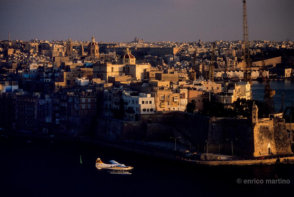 View of Senglea from Upper Barraka Gardens of La Valletta.