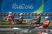 "Rio de Janeiro. BRAZIL.   GBR W2X. Semi Final A/B. Bow Vicky THORNLEY and Kathrine GRAINGER. 2016 Olympic Rowing Regatta. Lagoa Stadium,<br /> Copacabana,  ""Olympic Summer Games""<br /> Rodrigo de Freitas Lagoon, Lagoa.   Tuesday  09/08/2016 <br /> <br /> [Mandatory Credit; Peter SPURRIER/Intersport Images]"