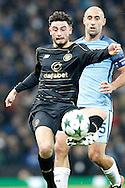 Celtic's Patrick Roberts (27) during the Champions League match between Manchester City and Celtic at the Etihad Stadium, Manchester, England on 6 December 2016. Photo by Craig Galloway.