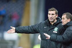 Hibernian's manager Alan Stubbs. <br /> Falkirk 1 v 0 Hibernian, Scottish Championship game played 6/12/2014 at The Falkirk Stadium .