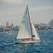 Ships sailing in Sydney Bay During Australia Day.