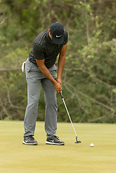 March 23, 2018 - Austin, TX, U.S. - AUSTIN, TX - MARCH 23:  Julian Suri attempt to win the ninth hole with a birdie putt against Bubba Watson during the WGC-Dell Technologies Match Play Tournament on March 22, 2018, at the Austin Country Club in Austin, TX.  (Photo by David Buono/Icon Sportswire) (Credit Image: © David Buono/Icon SMI via ZUMA Press)