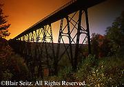 Sunset at Kinzua Viaduct, Kinzua Bridge State Park, McKean County, PA