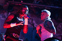 Keith Flint and Liam Howlett of The Progigy headline the main stage on Sunday, Rockness 2009..©2009 Michael Schofield. All Rights Reserved..
