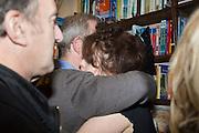 ANGUS DEAYTON; HARRY ENFIELD; HELENA BONHAM-CARTER;, Allie Esiri's The Love Book launch party , Daunt Books <br /> 83 Marylebone High Street, London. 5 February 2014