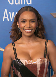 February 17, 2019 - Beverly Hills, California, U.S - Janet Mock in the red carpet of the 2019 Writers Guild Awards at the Beverly Hilton Hotel on Sunday February 17, 2019 in Beverly Hills, California. ARIANA RUIZ/PI (Credit Image: © Prensa Internacional via ZUMA Wire)