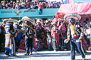 Solola fiesta, Guatemala, central America Dancers wear masks of Spanish colonisers.