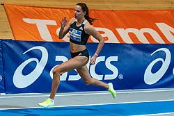 Britt de Blaauw in action on the 200 meter final during AA Drink Dutch Athletics Championship Indoor on 21 February 2021 in Apeldoorn.