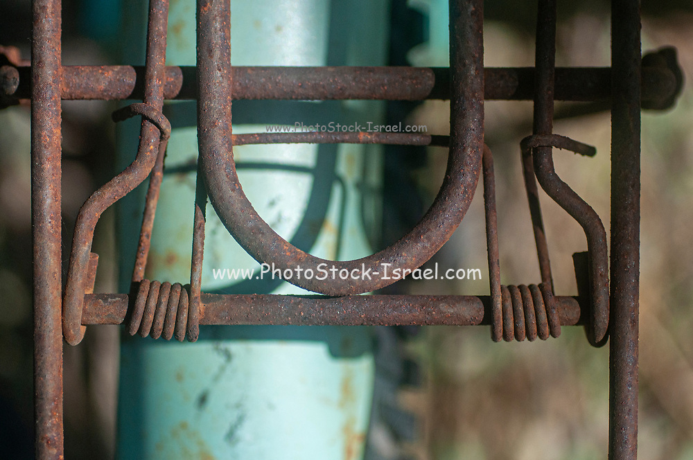 Abstract rust. closeup of a rusty bicycle