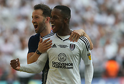 May 26, 2018 - London, England, United Kingdom - Fulham's Ryan Sessegnon celebrate they win.After the Championship Play-Off Final match between Fulham and Aston Villa at Wembley, London, England on 26 May 2018. (Credit Image: © Kieran Galvin/NurPhoto via ZUMA Press)